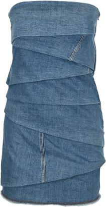 Philosophy di Lorenzo Serafini Philosophy Denim Bustier Mini Dress