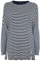 Topshop Maternity long sleeve slouch stripe top