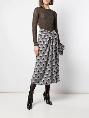 Paco Rabanne Black And White Print Jupe Skirt