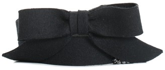 Chanel Fall 2002 Collection Black Felt Bow Belt, Size 30