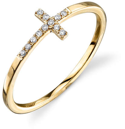 Sydney Evan Bent Cross Pavé Diamond Ring
