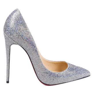 Christian Louboutin \N Silver Glitter Heels
