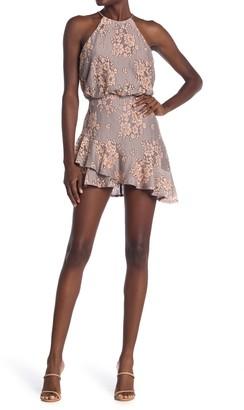 Do & Be Asymmetrical Ruffle Hem Halter Dress