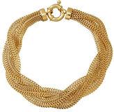Lord & Taylor 14K Yellow Gold Braided Mesh Bracelet