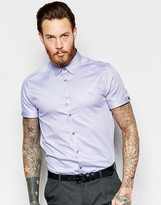 Ted Baker Slim Short Sleeve Oxford Shirt