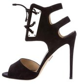 Paul Andrew Suede Lace-Up Sandals