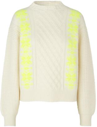 Mads Norgaard Recy Soft Knit Kalpa Ecru/Neon Yellow - wool   ecru   M/38 - Ecru