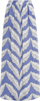 Paul & Joe Maxi Skirt Feather Print