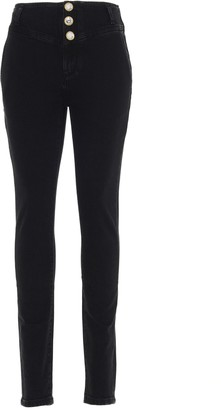 Alessandra Rich Button-Detailed Jeans