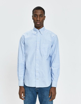 Gitman Brothers Classic Oxford Shirt in Blue