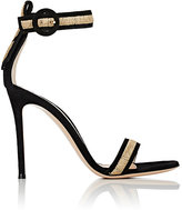 Gianvito Rossi WOMEN'S MARSHAL SUEDE ANKLE-STRAP SANDALS