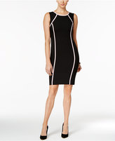 Kasper Petite Contrast-Trim Sheath Dress