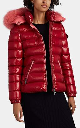 Moncler Women's Bady Fur-Trimmed Down Puffer Coat - Red