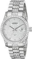 Akribos XXIV Men's AK486SS Diamond Quartz Stainless Steel Bracelet Watch