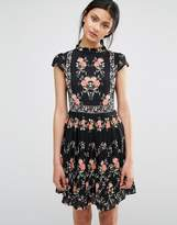Oasis Floral Print Tea Dress