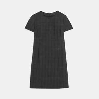Theory Jatinn Dress in Plaid Good Wool