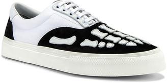Amiri Skel Toe Lace Up Sneaker in Black & White | FWRD