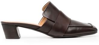 Marsèll Spatolina square toe leather mules