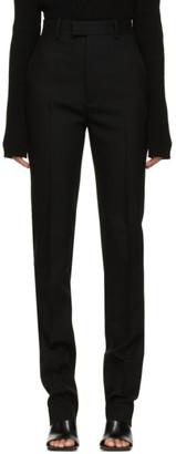 Bottega Veneta Black Grain De Poudre Trousers