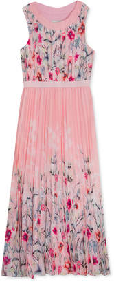 Rare Editions Big Girls Pleated Floral-Print Dress