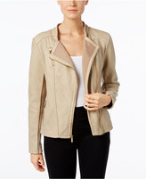 Calvin Klein Faux-Leather Moto Jacket