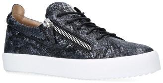Giuseppe Zanotti Python Print Low-Top Frankie Sneakers
