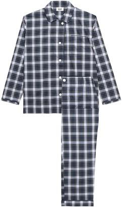 Sleepy Jones Stuart Plaid Cotton-poplin Pajama Set