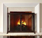 Pottery Barn Industrial Fireplace Open Door Screen