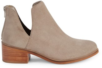 Steve Madden Suede Cutout Ankle Booties