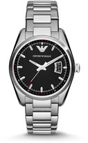 Emporio Armani Medium Stainless Steel Bracelet Watch, Silver/Black
