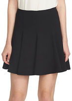 CeCe Flounce Crepe Pleated Fit-and-Flare Skirt