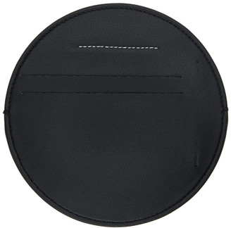 MM6 MAISON MARGIELA Black Vegan Leather Circle Card Holder