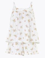 Marks and Spencer Floral Print Short Pyjama Set