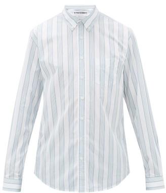 Schnaydermans Schnayderman's - Button-down Striped Cotton-poplin Shirt - Mens - Green White