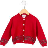 Bonpoint Girls' Patterned Knit Cardigan