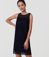 LOFT Tall Fan Lace Shift Dress