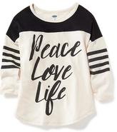 Old Navy Relaxed Drop-Shoulder Graphic Tee for Girls