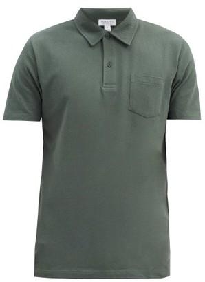 Sunspel Riviera Cotton-pique Polo Shirt - Dark Green