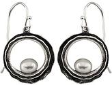 Bella Pearl Pearl & Oxidized Silver Drop Earrings