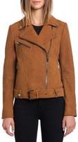 Bagatelle Women's Perfecto Lambskin Nubuck Moto Jacket