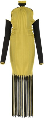 Bottega Veneta Halter-Neck Twist Fringed Dress