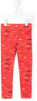 Stella McCartney name print leggings - kids - Cotton/Spandex/Elastane - 3 yrs