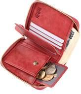 Pabojoe Wallet Women RFID Genuine Leather Zipper Cards Coin Purse