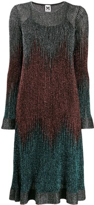 M Missoni ribbed shift shimmer dress