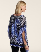 Chico's Travelers Collection Scarf Print Sinclair Top