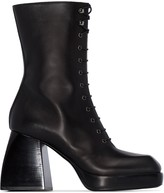 Nodaleto Bulla 85mm lace-up boots