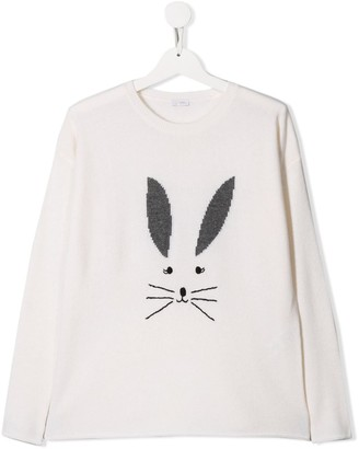 Il Gufo TEEN embroidered bunny jumper