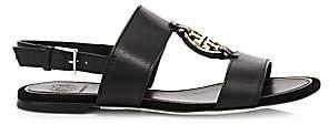 Tory Burch Women's Miller Metal Leather Slingback Sandals