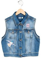 MSGM Girls' Denim Vest w/ Tags