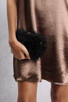 Rare Black Feather Clutch Bag